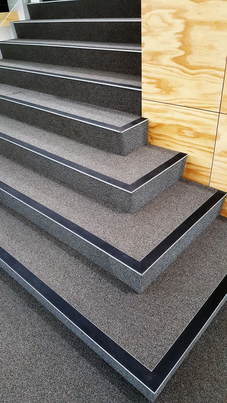 Stepmaster stair nosing's installed at Aranui School